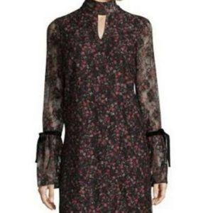 Libby Edelman Lace Floral Shirt Dress long Sleeve